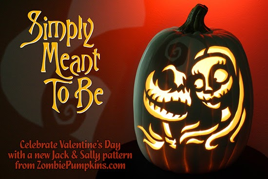 jack and sally pumpkin carving template - photo #30