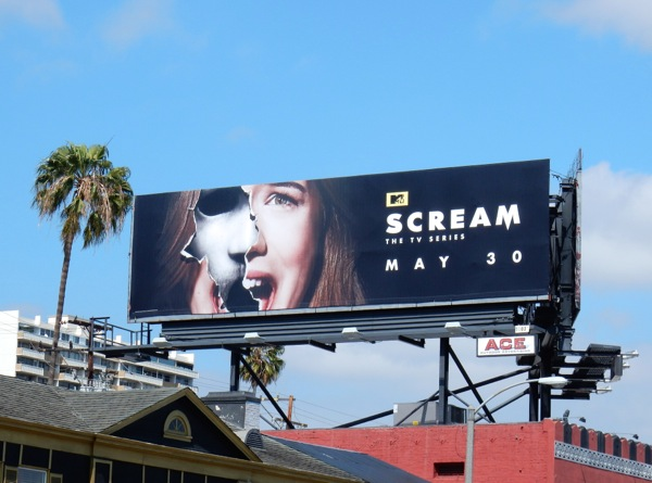 Scream season 2 TV billboard