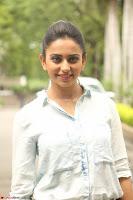 Rakul Preet Singh in Jeans and White Shirt At Jaya Janaki Nayaka le Logo Launch ~  Exclusive 012.JPG