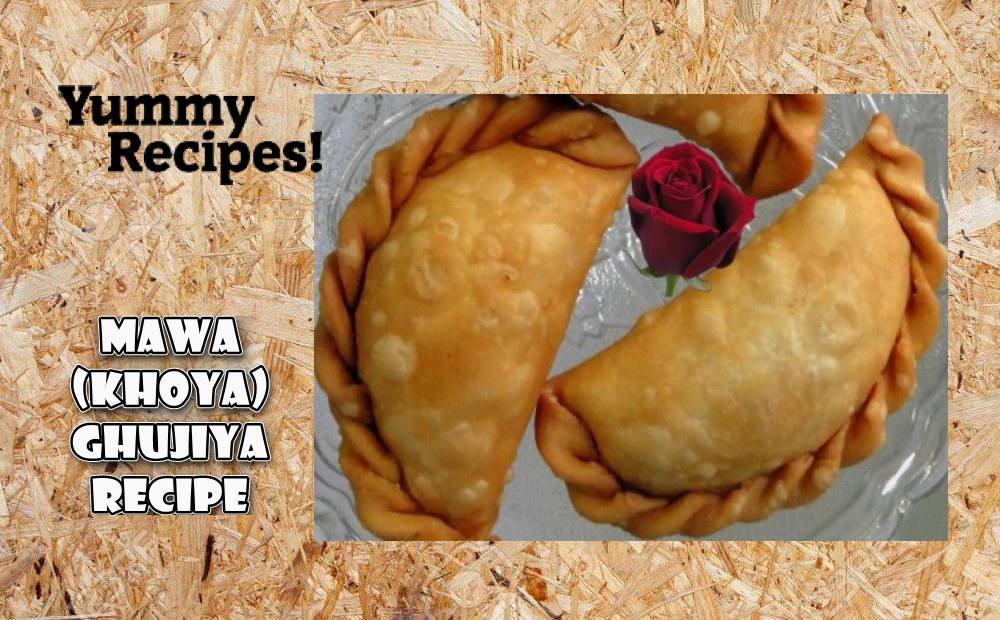 Mawa Ghujiya Recipe - How To Make Mawa Ghujiya