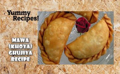 Mawa Ghujiya Recipe - How To Make Mawa Ghujiya