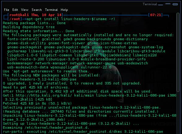 apt-get install linux-headers-$(uname -r)