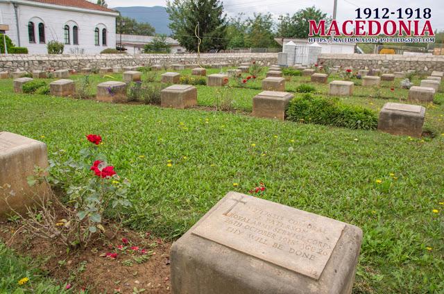 Gravestones -  British Military WW1 Cemetery in Skopje