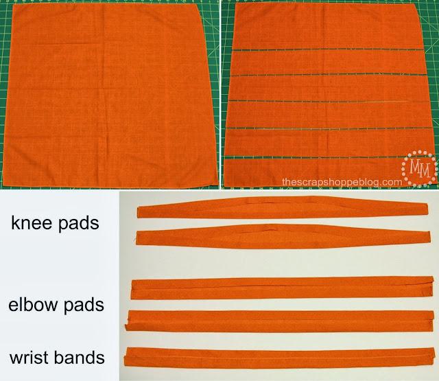 use bandanas for arm and leg bands