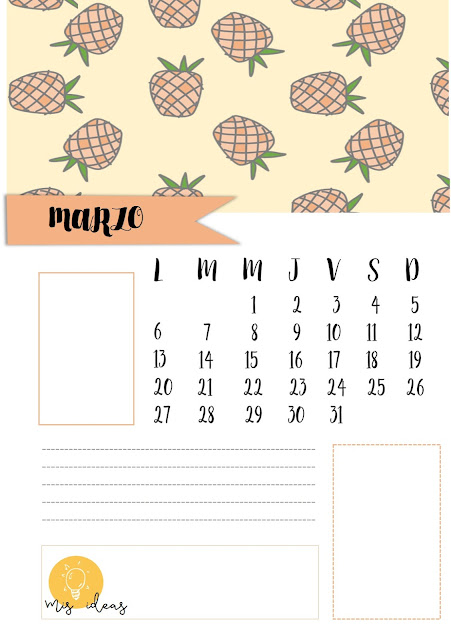 calendarios, imprimibles, A4, organizador, mensual, imprimir, pdf, descargar, gratis