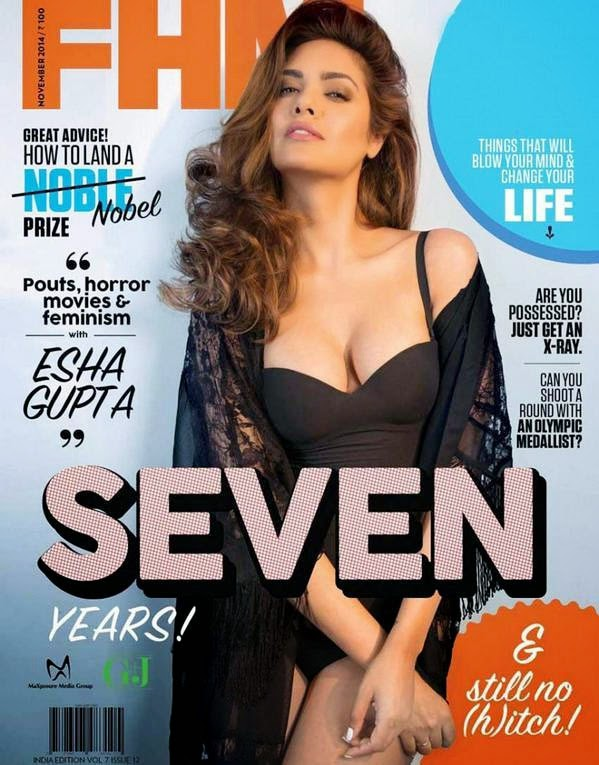 Esha Gupta, Bollywood Actresses on Indian Magazines November 2014 Covers