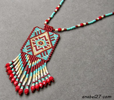 кулон из бисера мозаичное плетение этника купить украина