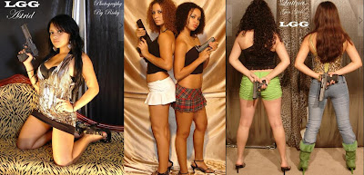 Latinas girls holding guns