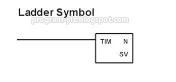 plc timer symbol