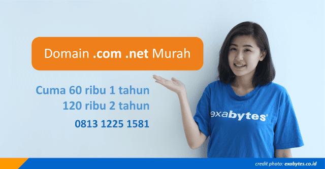 Domain .Com .Net Murah dari Exabytes.co.id Melalui Riswan Net