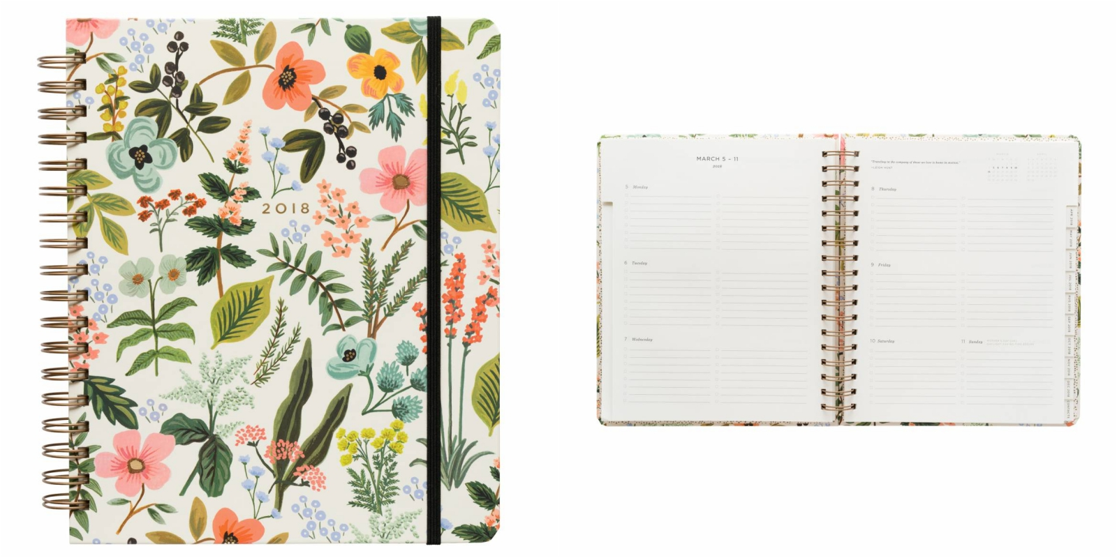 agenda, 2018, Rifle Paper Co
