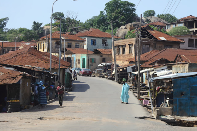 Old Abeokuta, on the way to Olumo rock