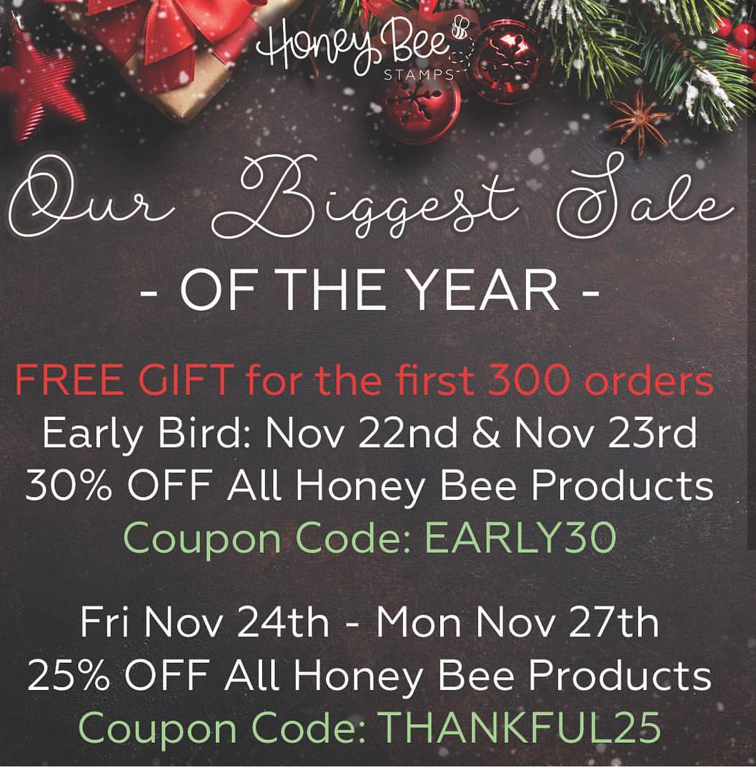 Black friday SALE | HONEY BEE STAMPS