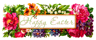 easter greeting digital image wildflowers