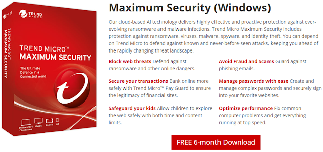 Giveaway: Trend Micro™ Maximum Security Free 6 Months