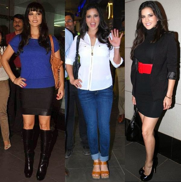 Sunny Leone in super casual airport look for your airport outfits ideas