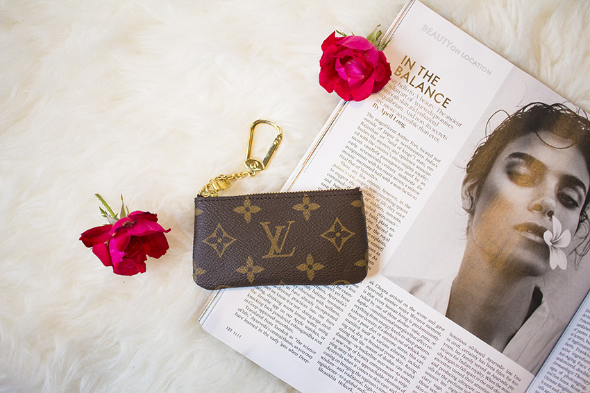 5 reasons why I love using a smaller wallet, uses for louis vuitton key pouch