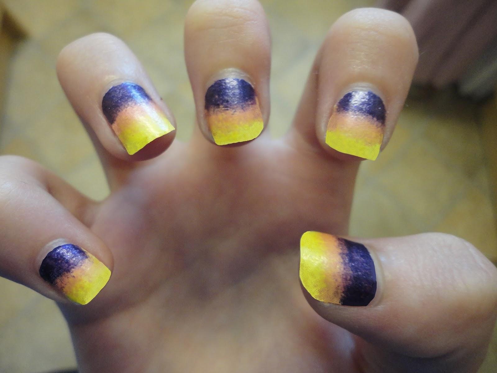 sunset nail art | Sunset nails, Nail art, Nails