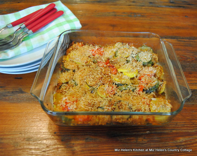 Garden Squash Gratin at Miz Helen's Country Cottage