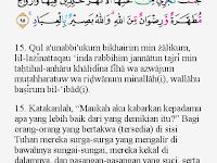 Tajwid Surat Ali Imran Ayat 15