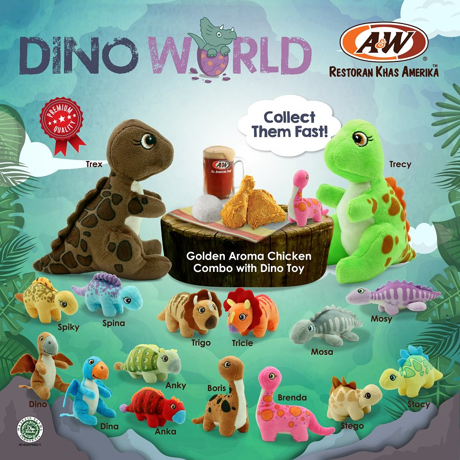 A&W - Promo Golden Aroma Chicken Combo With Dino Toy