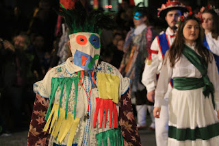 Representación del carnaval tradicional vasco