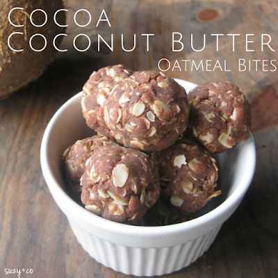 cocoa coconut butter oatmeal bites