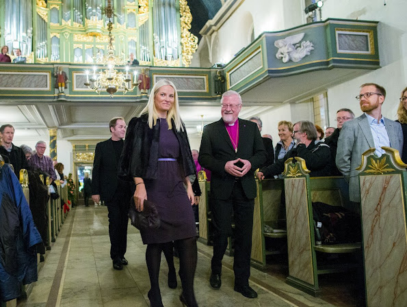 Princess Mette-Marit attended a concert at Cathedral of Oslo. newmyroyals, style royal, royalty, fashion, wedding dress