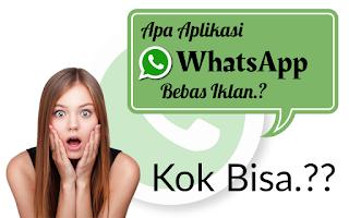 Apa dan kenapa Aplikasi WhatsApp bisa terbebas dengan Iklan?