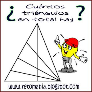 ¿Cuántos triángulos hay?, ¿Cuál es el total de triángulos?, Número de triángulos, ¿Cuántos triángulos en total hay?, Retos para pensar, Retos de Triángulos, Desafíos matemáticos