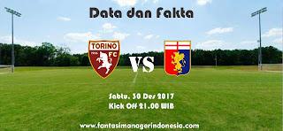 Data dan Fakta Liga Fantasia Torino vs Genoa Fantasi Manager Indonesia