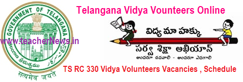 TS Vidya Volunteers Official Vacancies District wise list, New Schedule, Online Application