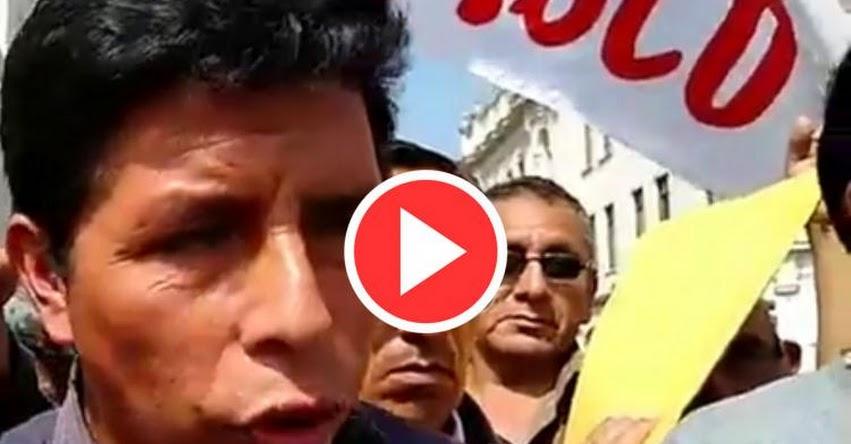PEDRO CASTILLO: Suspendemos temporalmente la huelga nacional indefinida y estaremos vigilante el accionar del gobierno [VIDEO]