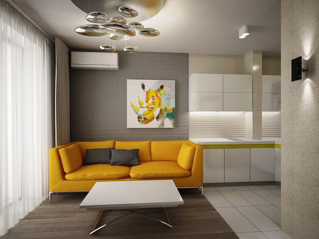 Design of A One-Room Apartment 38 sq.m. - Decor Units
