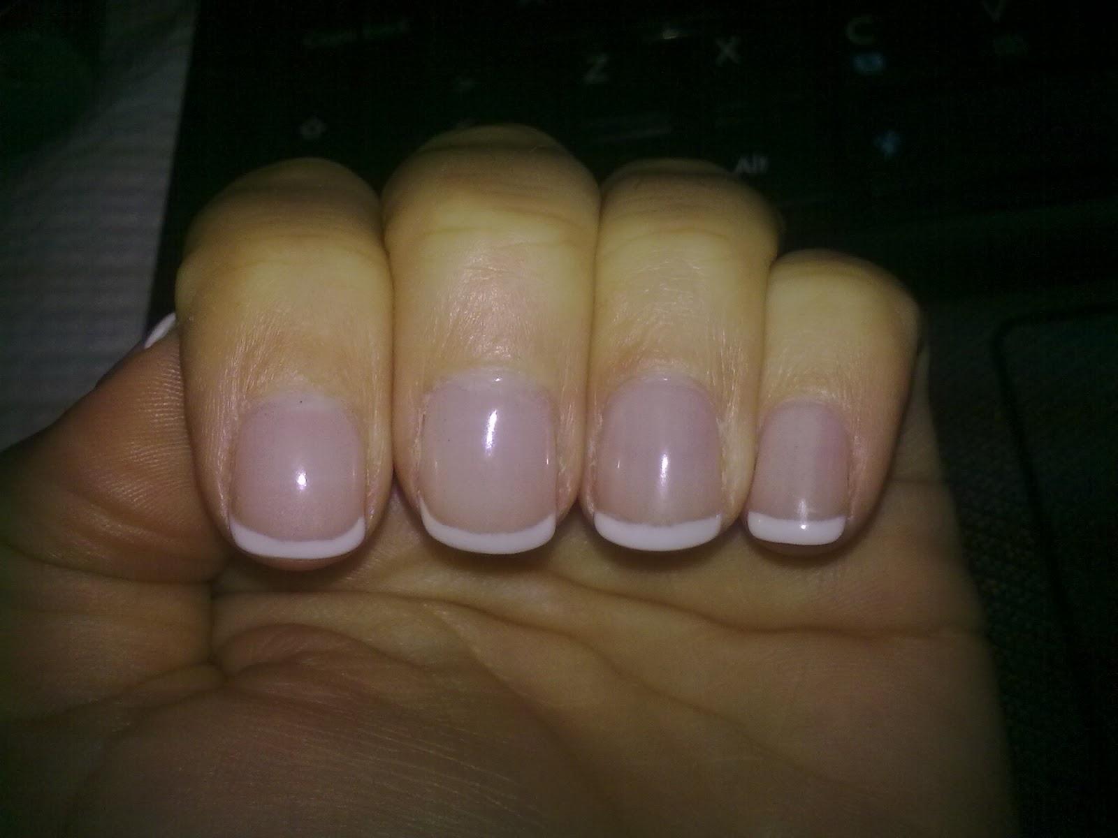 unhas de gel manicure francesa