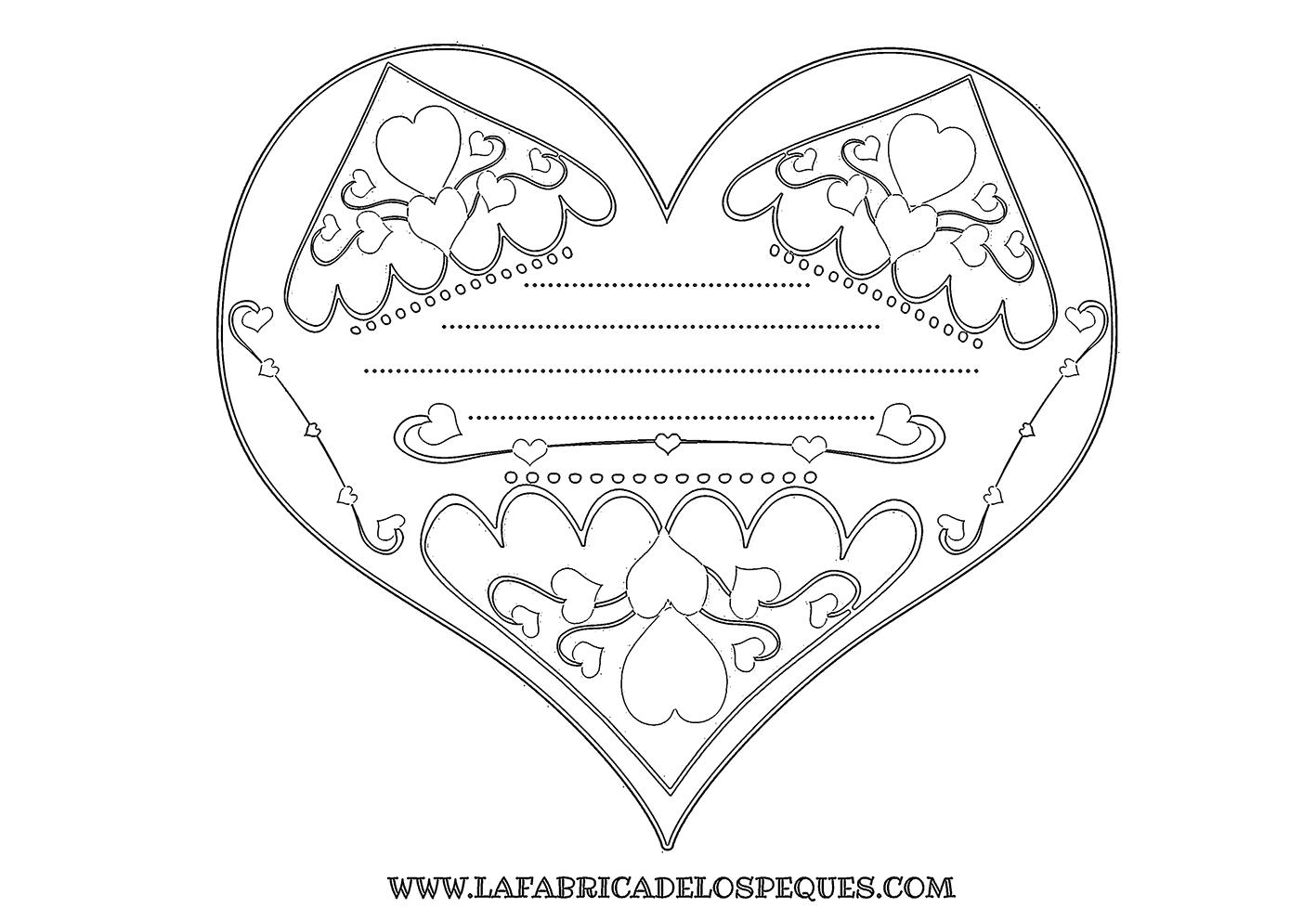 Tarjetas de corazón para San Valentín - La fábrica de los peques