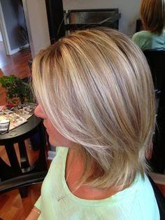... brown hair, blonde highlights tumblr, hair highlight ideas, short hair