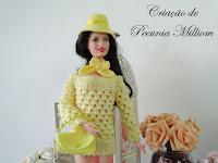 Roupa de Crochê Para Barbie - Vídeo: Barbie Raio de Sol - Por Pecunia Milliom