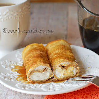 Pumpkin Spice Crepes with a Cinnamon Mascarpone Filling by The sweet Chick