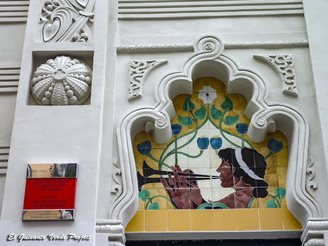 Teatro Campos Elíseos (detalle) - Bilbao por El Guisante Verde Project