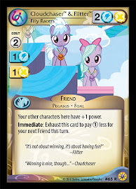 My Little Pony Cloudchaser & Flitter, Filly Racers Friends Forever CCG Card