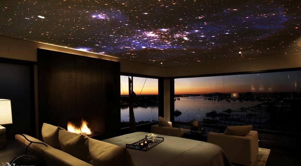 Fantastic Fiber Optic Star Field Ceiling Ideas