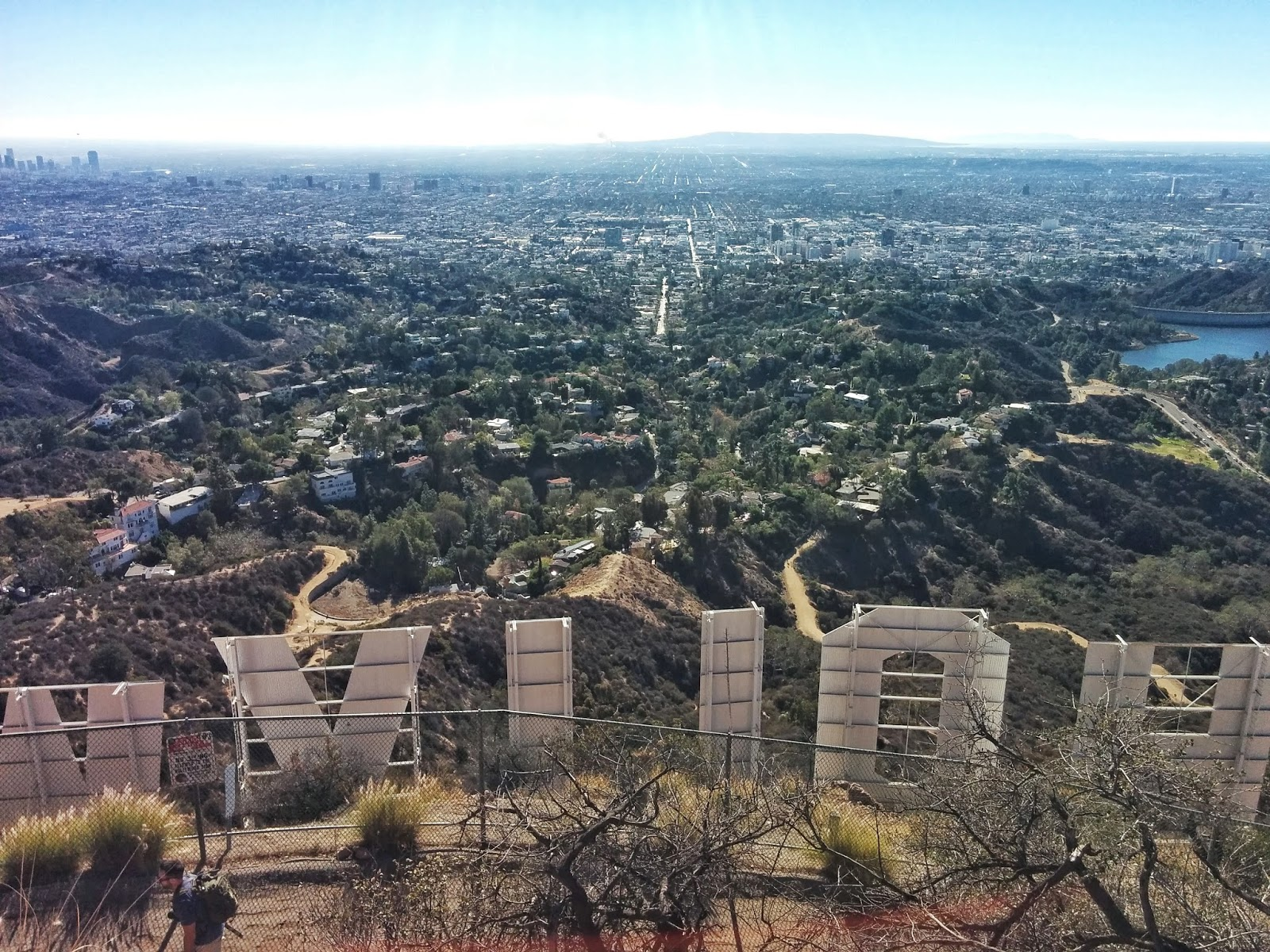 Mom and Daughter Hollywood Sign Hike Los Angeles California great view la CA west coast the hills