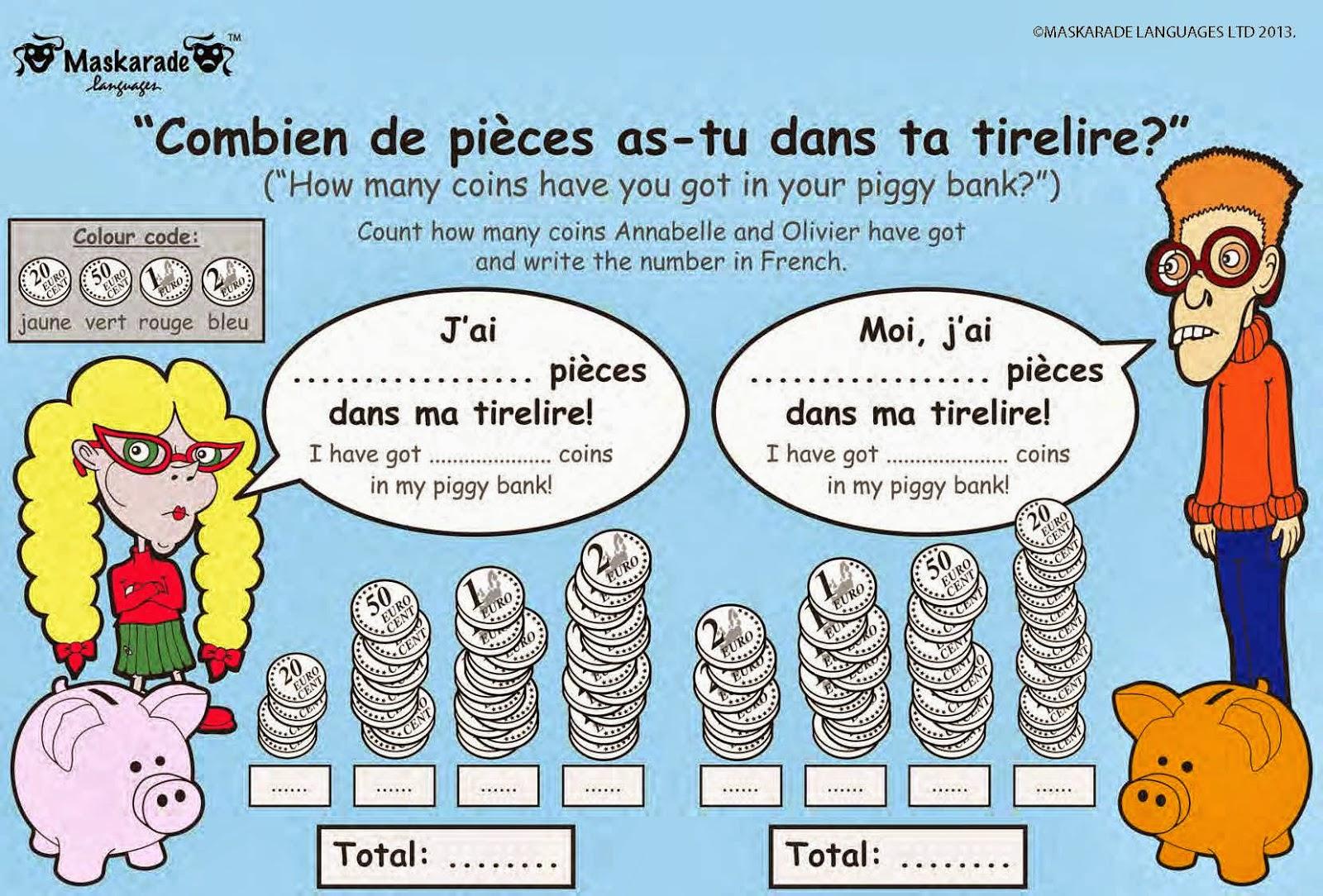 Maskarade Languages Key Stage 2 Free Practice Worksheet