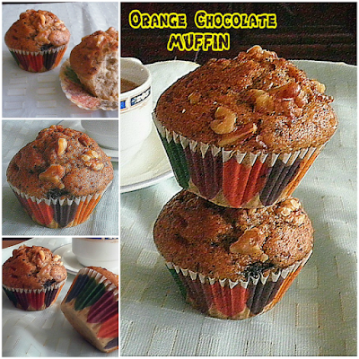 Orange Chocolate Muffin Recipe @ treatntrick.blogspot.com