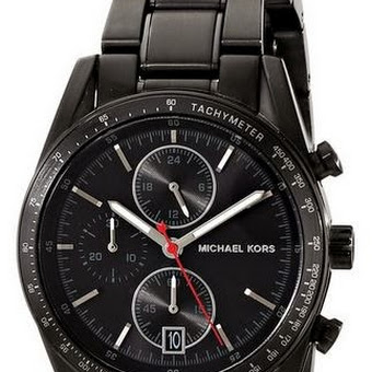 d45c4d9662d6 Michael Kors Accelerator Chronograph Black Dial Black Ion-plated Mens Watch  MK8386