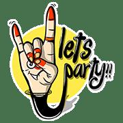 LINE Stickers Indian Hand Mudras Free Download