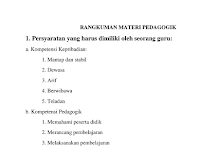 Download Rangkuman Materi UKG Pedagogik 2016