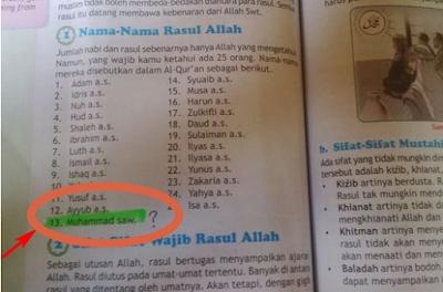 ASTAGHFIRULLAH! Beredar Buku Agama Islam SD, Isa as Nabi Terakhir