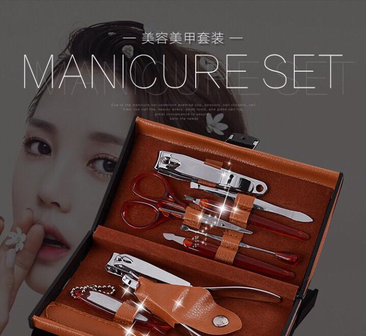 28k - Bộ đồ nghề làm móng 10 món hộp da cao cấp loại xịn giá sỉ và lẻ rẻ nhất
